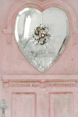Old door with heart