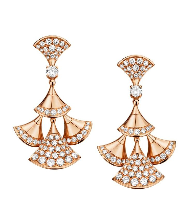 Rose Gold and Diamond Divas' Dream Drop Earrings