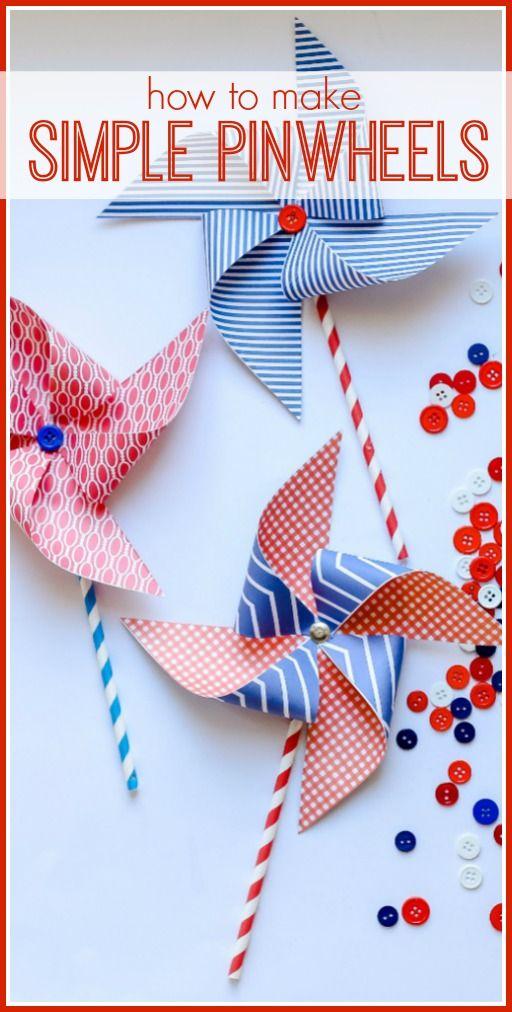 Easy Pinwheel Craft Idea Paper Perfection Pinterest Crafts