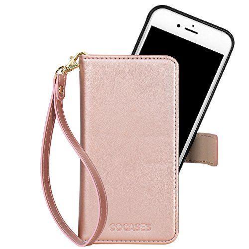 COCASES Coque iPhone 6/6s Flip Cover Housse Aimantée en PU Cuir ...