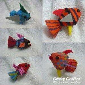 egg carton fish