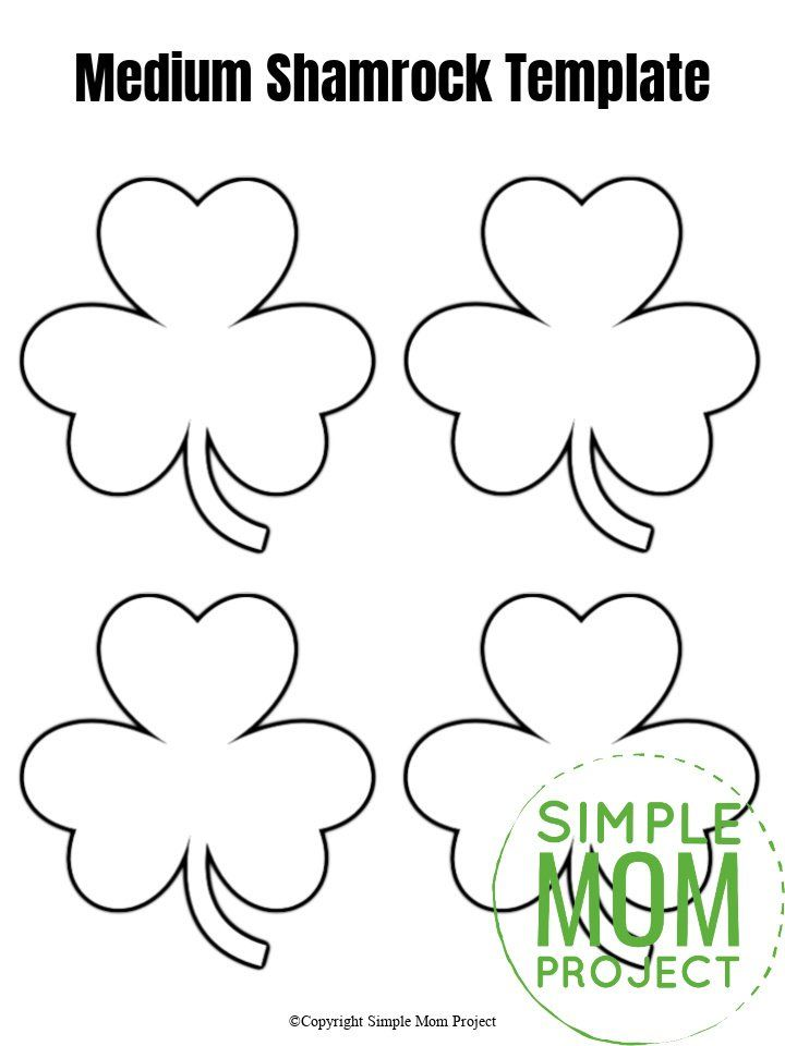 Free Printable Shamrock Templates In Small Medium And Large St