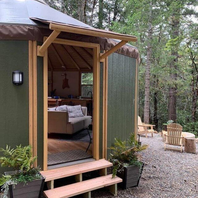 Yurt Pictures Yurt Cabin Photos Freedom Yurt Cabins In 2021 Building A Wooden House Yurt Yurt Home