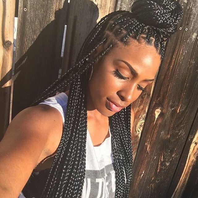 STYLIST FEATURE| Love these  #boxbraids on @iamqueenjaz styled by #LAStylist @trueconfessions1❤️ So pretty #voiceofhair ========================= Go to VoiceOfHair.com ========================= Find hairstyles and hair tips! =========================
