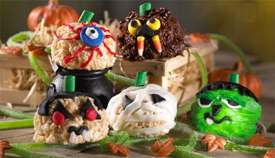 Pumpkin Head Treats™Pumpkin Head, Recipe, Rice Krispies Treats, Ricekrispietreats, Halloween Treats, Pumpkin Patches, Head Treats, Rice Crispy Treats, Rice Krispie Treats