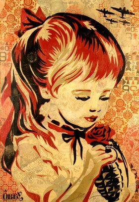 Shepard Fairey Obey Psychedelic Hippie Peace Art Poster ~ ☮~ღ~*~*✿⊱ レ o √ 乇 !! ~ Shepard Fairey is a street artist who originally became known for his Andre the Giant posters in many cities across the USA.