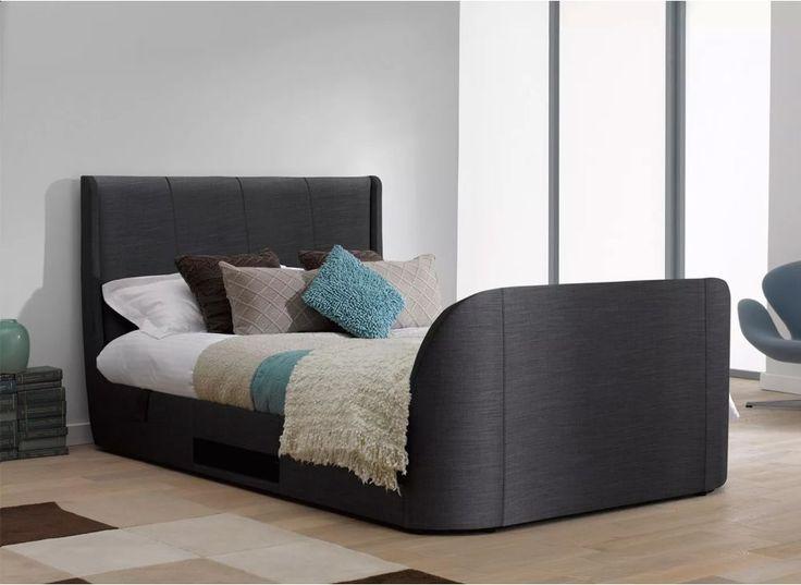 Titanium T3 TV Bed Frame with Samsung LED TV - Slate