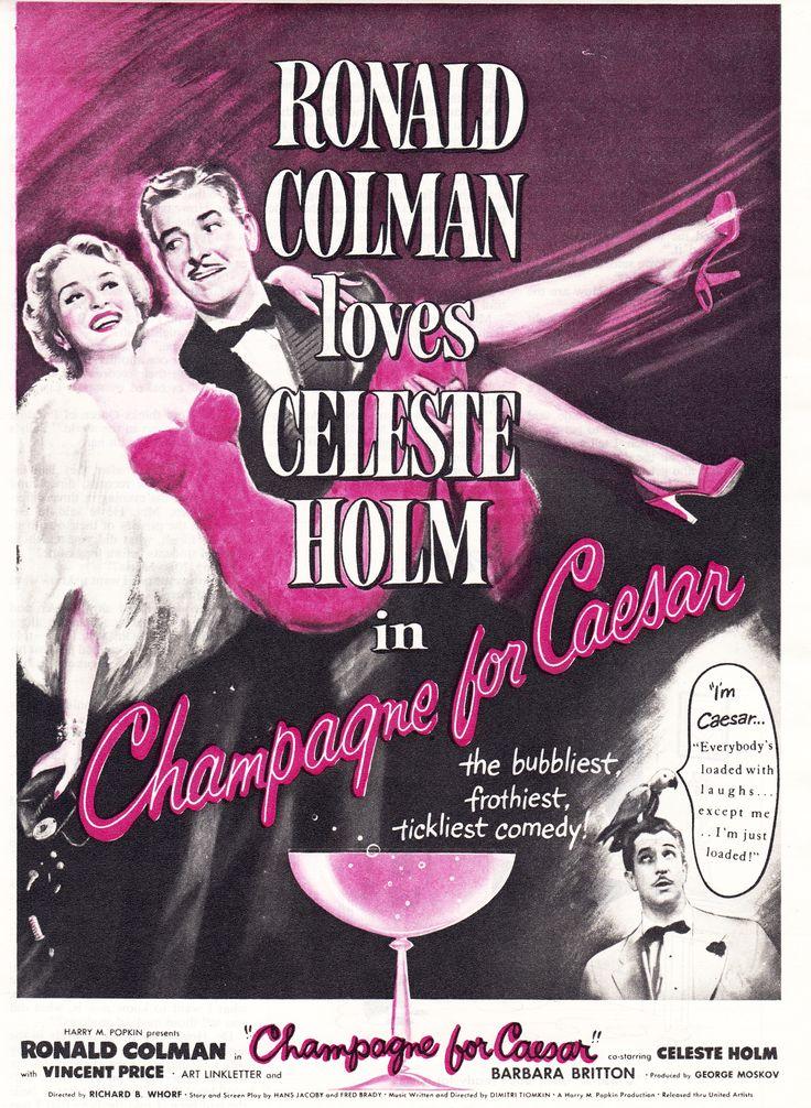 Champagne for Caesar. Ronald Colman, Celeste Holm, Vincent Price, 1950.
