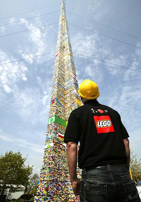 World's tallest lego brick tower