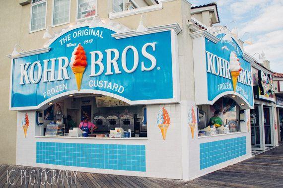 Kohr Bros (beach, ocean city, new jersey, boardwalk, ice cream)