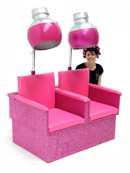 Grease Party Theme Hire: Retro Hooded Dryer Set. Adorable!!