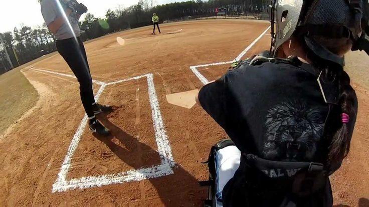 Softball Umpire POV from Behind Plate