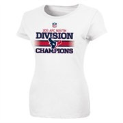 Houston Texans Ladies 2011 AFC South Division Champions Locker Room T-Shirt - White