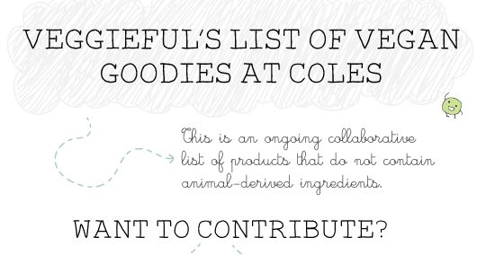 Veggieful: Vegan Groceries at Coles Australia