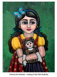 Holding Frida With Butterfly - Victoria De Almeida