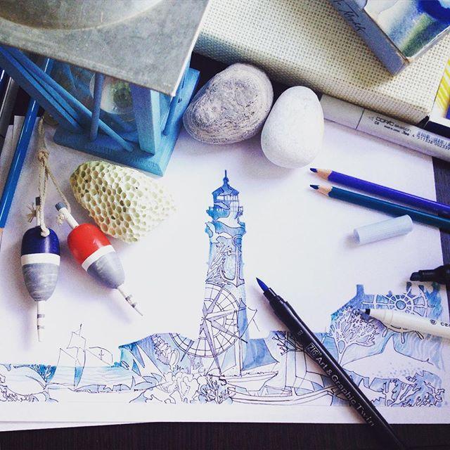 Lighthouse series. Experiments with the silhouette.☕ Игра с силуэтом! Море, приключения и мечты... #anastasya_klyputenko #lighthouse #lighthouse_lovers