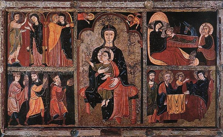 Unknown painter  Catalan active 12th century- Scenes from the Life of Jesus - Palau Nacional Barcelona