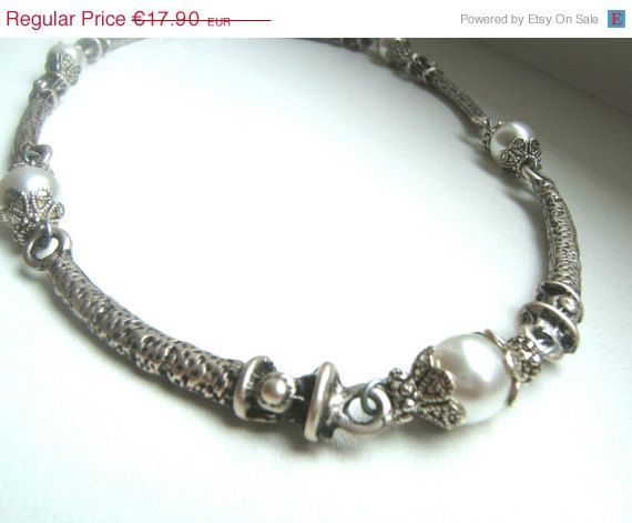 20 SALE Tibetan silver necklace victorian style by LeSirenes, €14.32