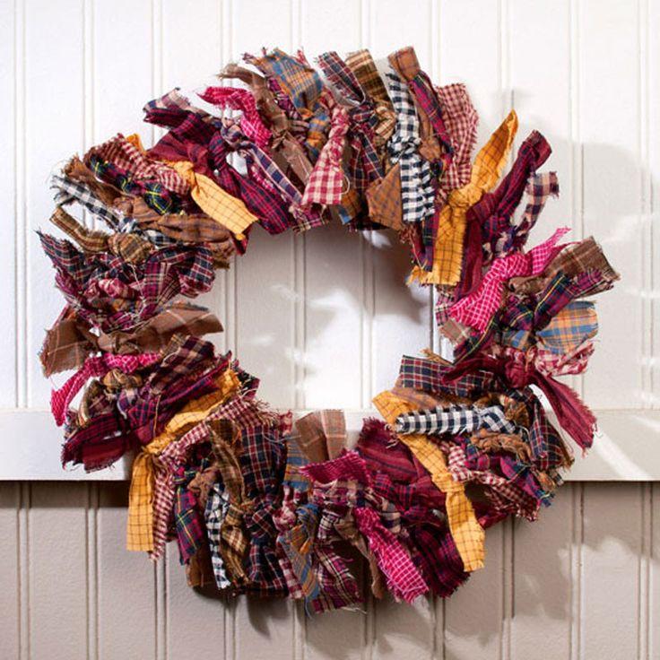 Primitive Rag Wreath