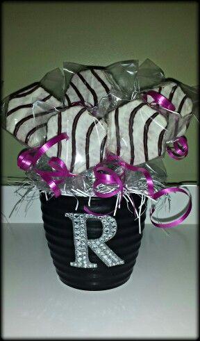 Center pieces for zebra party