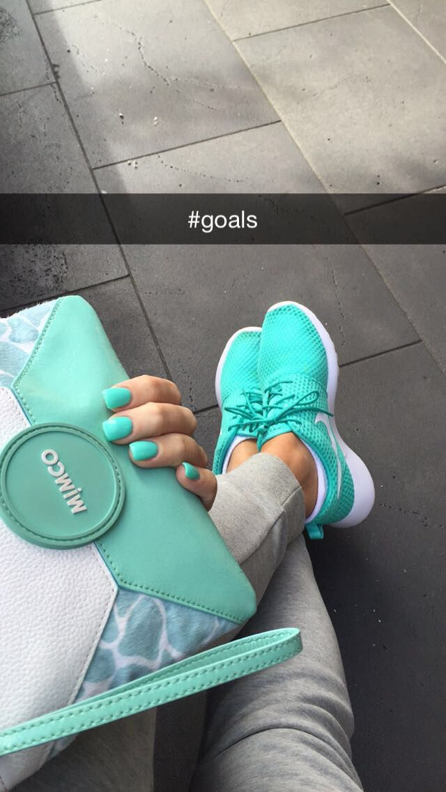 #nike #mimco#nails#tiffanyblue