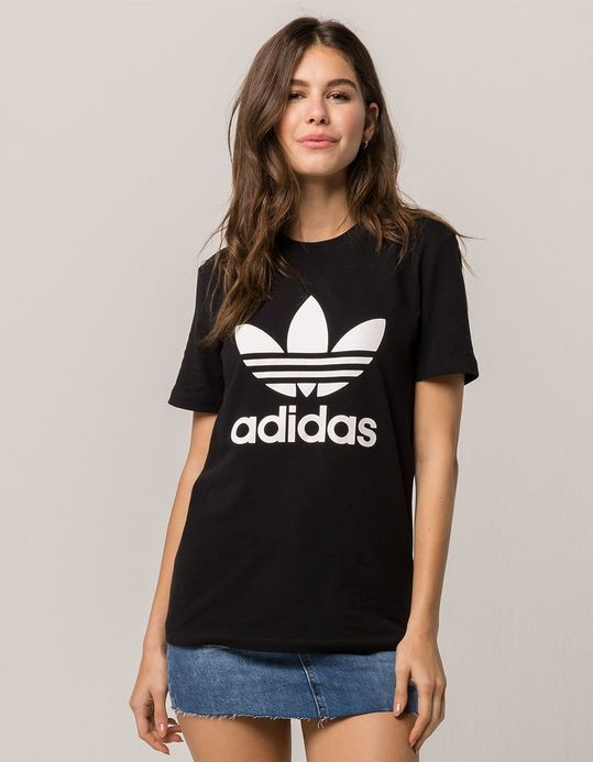 womens adidas black t shirt