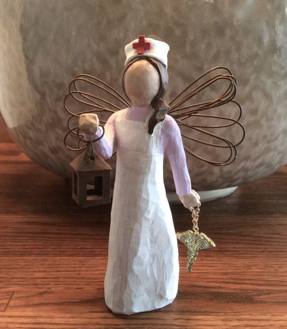 Nurse RN Gift - Florence Nightingale w. Lantern and Caduceus - Nurse Graduation - RN Birthday Present