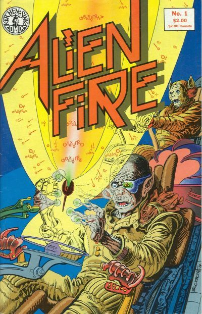 Alien Fire (Kitchen Sink Press) #1 (January 1987) by Anthony Smith and Erik Vincent