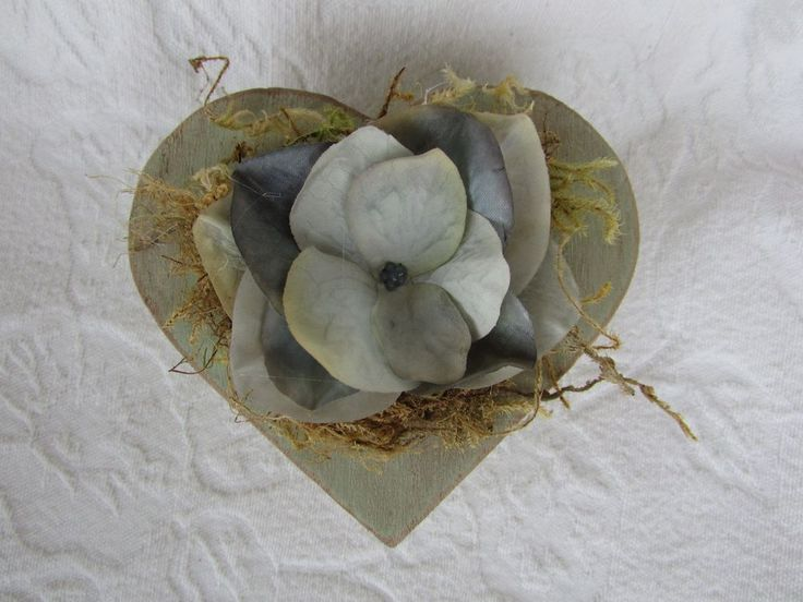 Heart Shaped Wedding Ring Box Shabby Chic Rustic Vintage ring pillow Alternative in Home, Furniture & DIY, Wedding Supplies, Ring Pillows & Flower Baskets | eBay