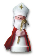 St. Nicholas figurine Make this decoration with a clay pot and a styrofoam ball for Saint Nicholas' head
