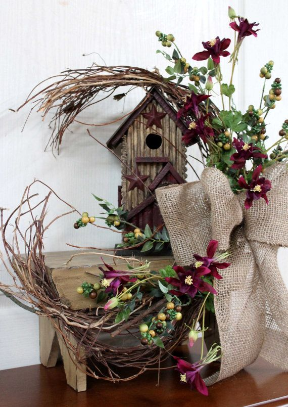 Primitive Decor Country Floral Front Porch By