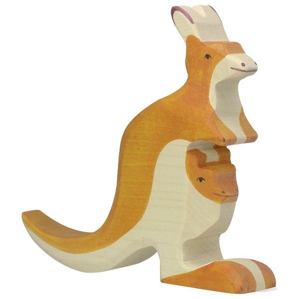 Holztiger Wooden Animal Figure Kangaroo Canada