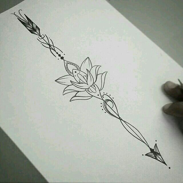 Brave and Mulan tattoo in one..middle to be a lotus