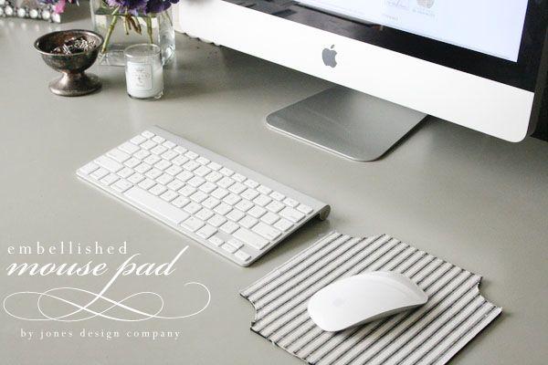 embellished mouse pad