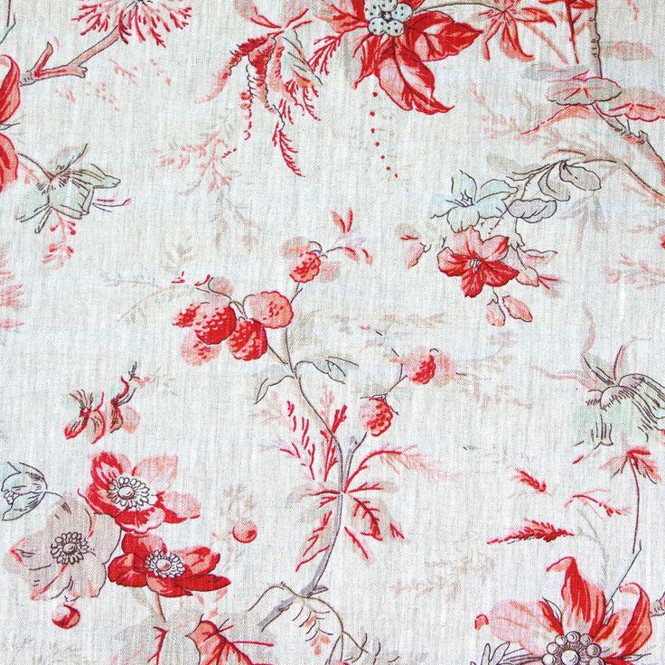 Winter Blossom Fabric - Rose