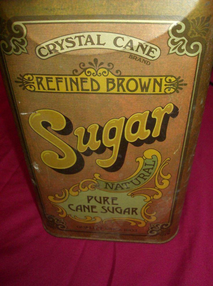 Cheinco Housewares Crystal Cane Refined Brown Sugar Tin