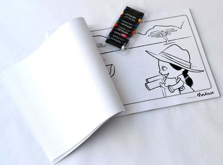 Get out your crayons, khokis or pastels - Macaroon's Mini Mates will take you on an adventure visiting Jozi, Cape Town, the beach, the soccer field, the game reserve and more - Macaroon's Personalised Doodle pad - www.macaroon.co