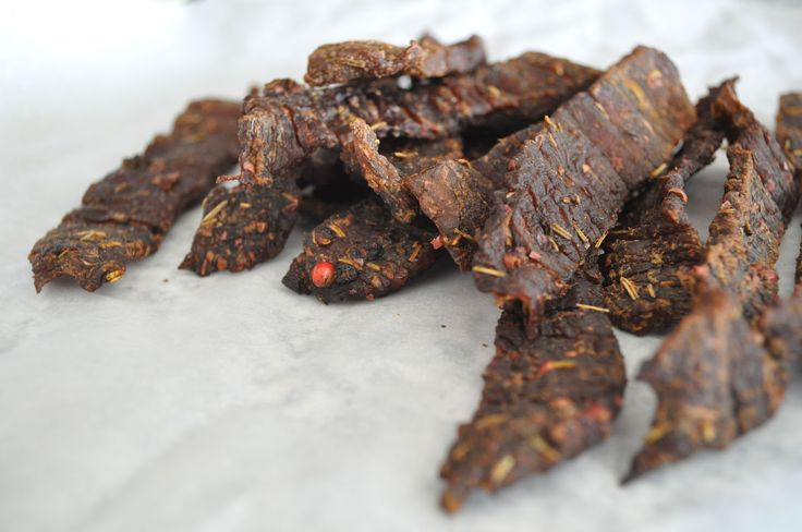 Spicy jerky, perfect as Paleo snack.