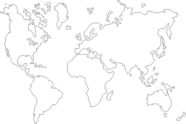 World Outline India Centered Map | World Maps – Free Printable ...