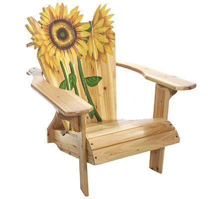 Blooming Sunflower Adirondack Chair