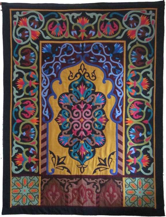 Recently purchased piece by the Tentmakers of Chareh El Khiamiha at an AQS show in the USA - Daphne Greig: Tentmakers of Cairo
