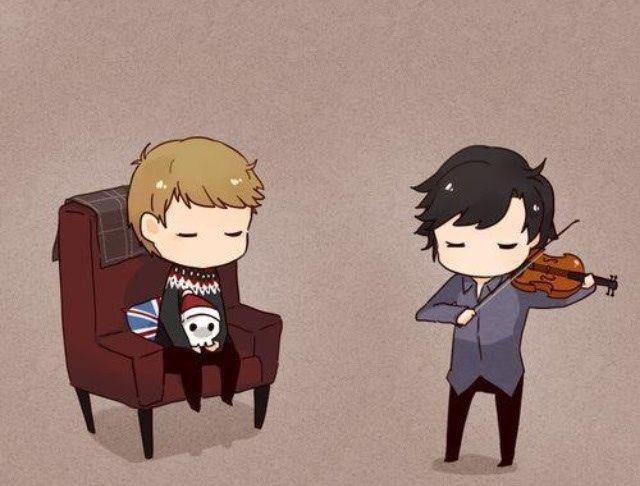 Chibi Sherlock and John