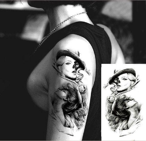 Crafting Blonde Arm Dark Art Temporary Tattoos Paper