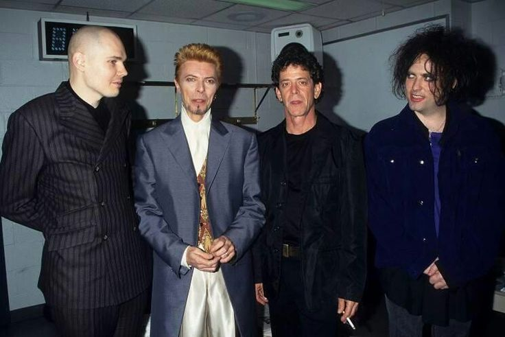 Robert Smith and Billy Corgan, David Bowie, Lou Reed