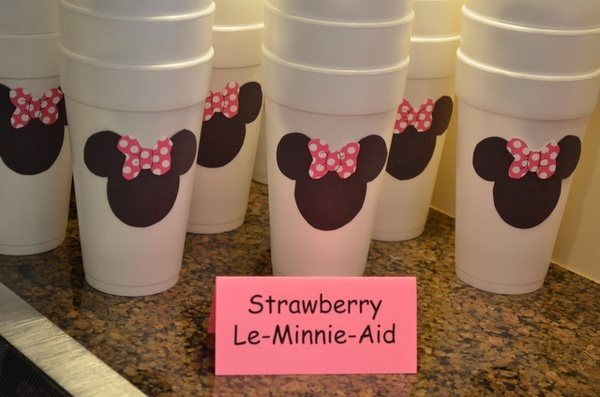 Minnie Mouse Party - Strawberry Le-Minnie-Aid