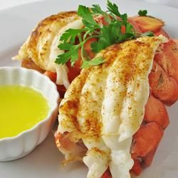 I made this with frozen lobster tails from Trader Joes... so good! I cooked it in the toaster oven on broil, used butter instead of olive oil and lots of fresh garlic.