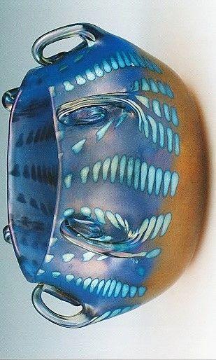 Glass Loetz . Form and decoraion Jutta Sika 1902 .