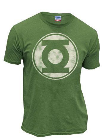 Geek god Nathan Fillion wore this sleek Green Lantern t-shirt to EW Comic Con 2010. Now you can wear it everywhere! The cool Kelly green tee features a big distressed print of Hal Jordan's iconic lant