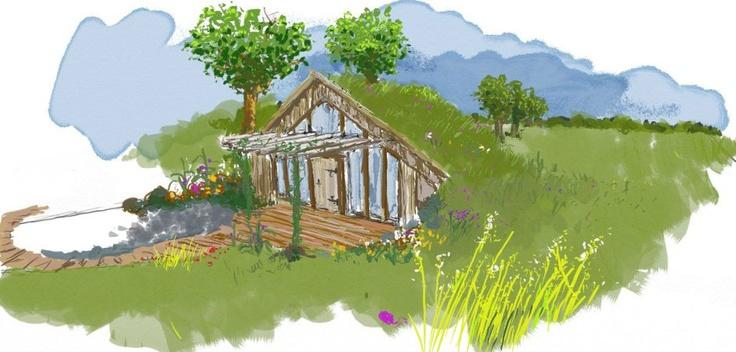 Maisonnettes passives en bois et terre crue, chambres d'hôtes insolites