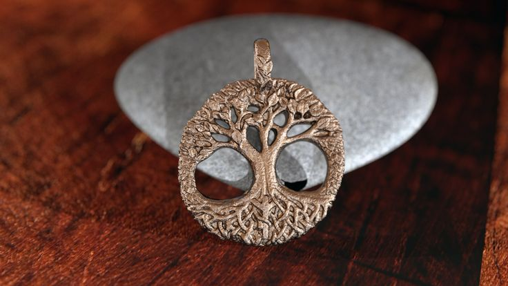 Yggdrasil, the Tree of Life. Pendant made in brozed infused stainless steel. Check it out here: https://mythos-jewelry.com/portfolio/yggdrasil/
